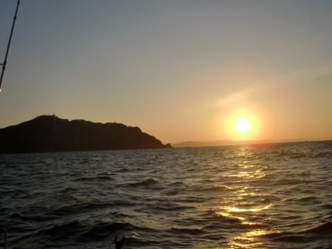 日の岬にて青物釣り