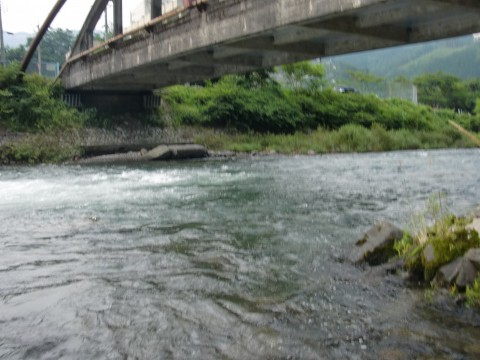 木曽川上流(木曽福島)鮎釣り